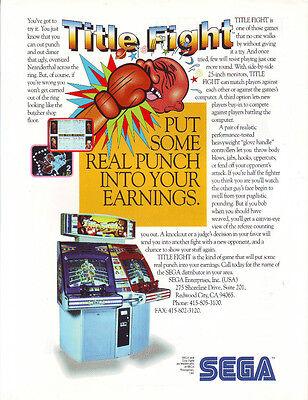 Title Fight Original Pinball Flyer