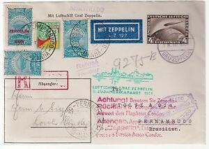 1931-Germany-Graf-Zeppelin-Cover-Pernambuco-Brazil-Mixed-Franking-LZ-127-Sieger