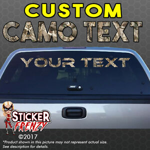 Custom Camo Window Text Lettering Vinyl Decal Sticker Banner Truck - Camo custom vinyl decals for trucks