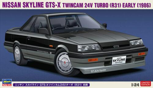 R31 Hasegawa 1//24 Nissan Skyline GTS-X Twincam 24V Turbo Early 1986
