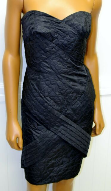 866cf900bf Jean Paul Gaultier Target Black Dress Embossed Fabric Strapless Sweetheart  Neck