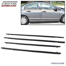 4x Weather Strips Window Moulding Trim Fit For 2006 2011 Honda Civic 4 Door Fits 2006 Civic
