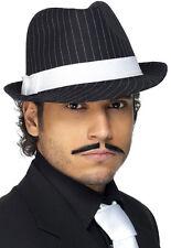 20er Jahre Gangster Filzhut Deluxe NEU - Karneval Fasching Hut Mütze Kopfbedecku