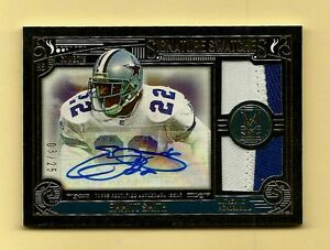 4a03d7b5980 EMMITT SMITH-2015 Topps Museum (#3/25) DUAL 2-COLOR PATCH/AUTO ...