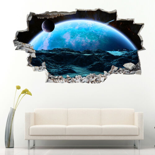 Wall Stickers Space Planet Explorers Moon Bedroom Girls Boys Living Room AA876