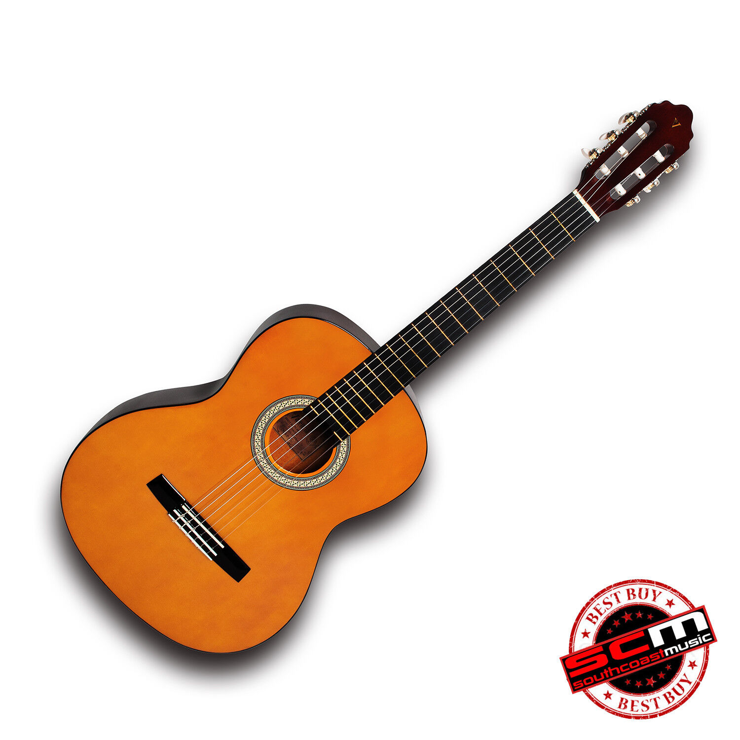 Best Selling Student Classical Guitar 4 4 Full size Nylon String Valencia VC104