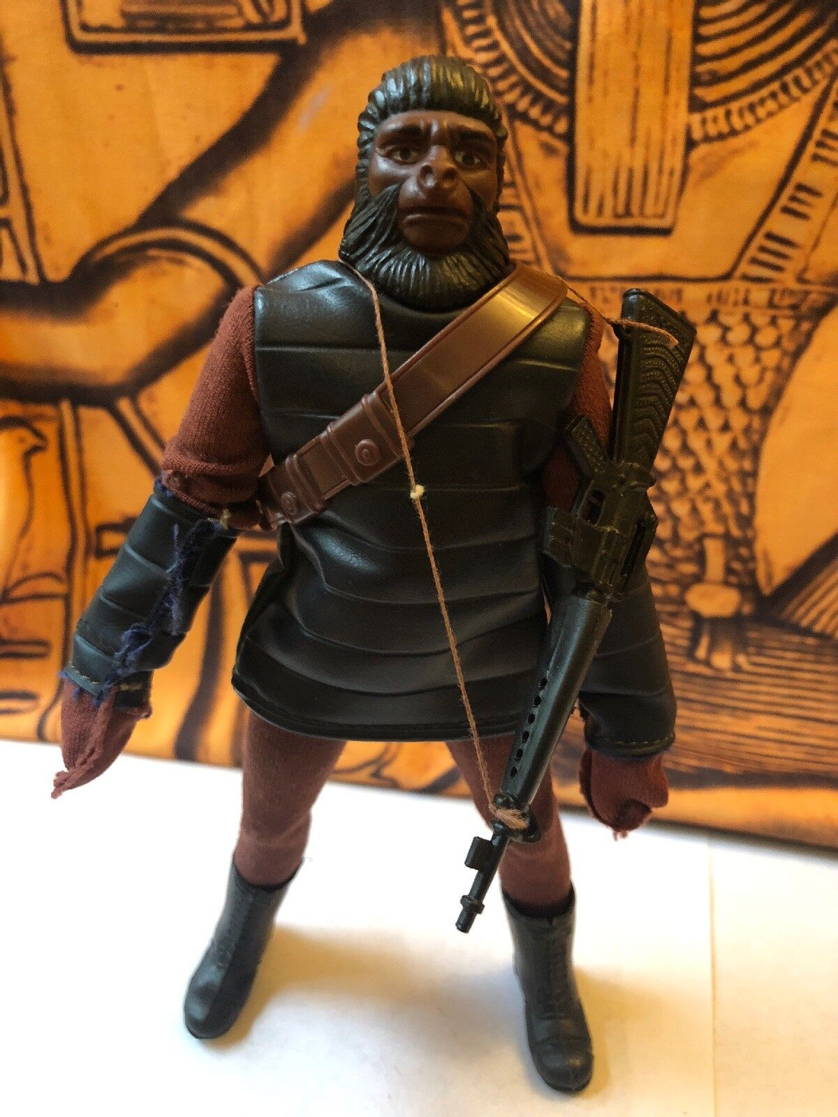 Vintage Mego Planet Of The Apes Soldier Ape Action Figure Complete POTA