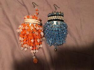2 Vintage Handmade Large Light Plastic Bead Tea Ball ...