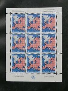 TIMBRES-DE-YOUGOSLAVIE-1975-YVERT-N-1469-70-NEUF-EN-FEUILLE-COMPLETE-TBE