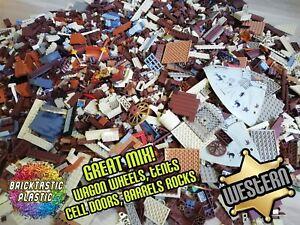 LEGO-x850pcs-1KG-Wild-West-Cowboy-amp-Indian-MOC-Part-Packs-Bulk-Stickers