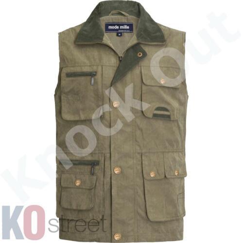 Mens Mode Mille Cargo Waistcoat Safari Shooting Fishing Hiking Gillet Jacket ...