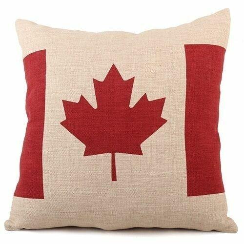 "Home Decor Flag Print Square Cotton Linen Sofa Cushion Cover  Throw Pillow 18/"""