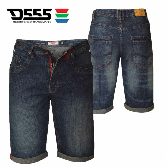 Mens Duke Big King Size Vintage Denim Knee Length Casual Summer Shorts 42 44 46