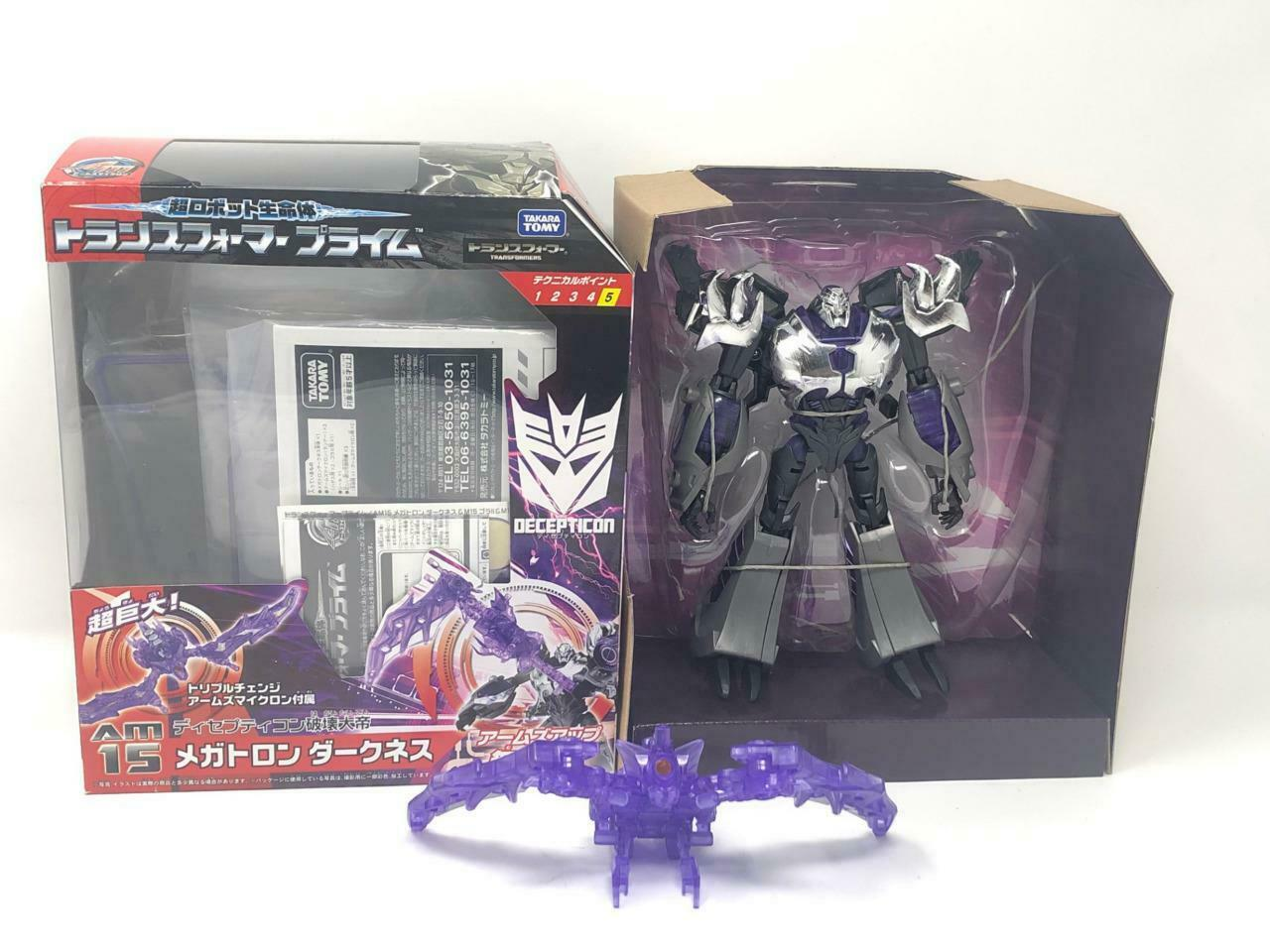 TRANSFORMERS ARMS MICRON AM-15 DARKNESS MEGATRON COMPLETE WITH HADES