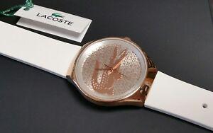 Lacoste-Valencia-2000809-Damen-Uhr-Edelstahl-rose-weiss-NEU
