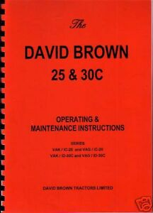 David Brown 25D//30D Tractor Operator Instruction Manual