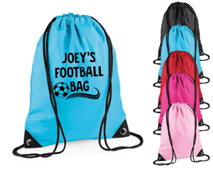 Personalised Name Football Bag Gym Kids Bag Sports Bag Boys Footy ...