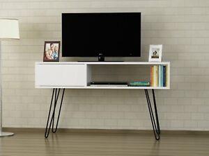 Wohnwand Modern Tv Lowboard Weiß Massiv Wohnzimmerschrank Holz
