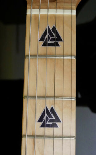 Valknut Triangles BLACK PEARL Fret Markers Inlay Sticker Decal for BASS /& GUITAR