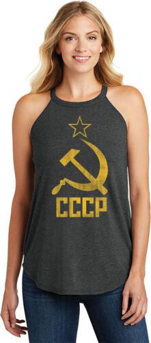 Buy Cool Shirts Ladies Soviet Union Tank Top Distressed CCCP Tri Rocker Tanktop