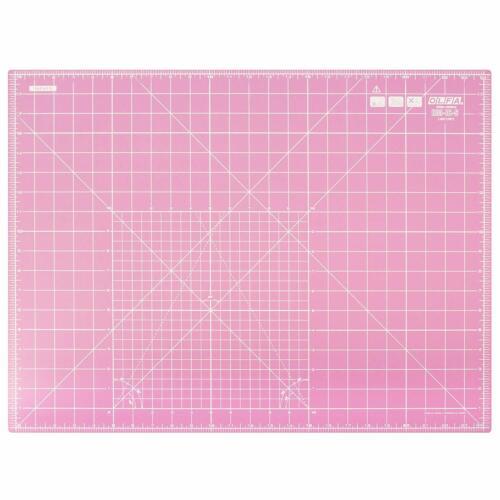 Pink Olfa Double Sided Self Healing Rotary Cutting Mat 24/'/' X 18/'/' Inch