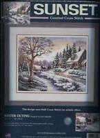 Sunset Cross Stitch Kits: Winter Outing Complete Kit Kp