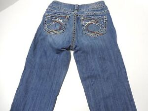 "Womens Size 25/33 Silver Jeans Suki 17"" Denim Boot Cut Blue ..."
