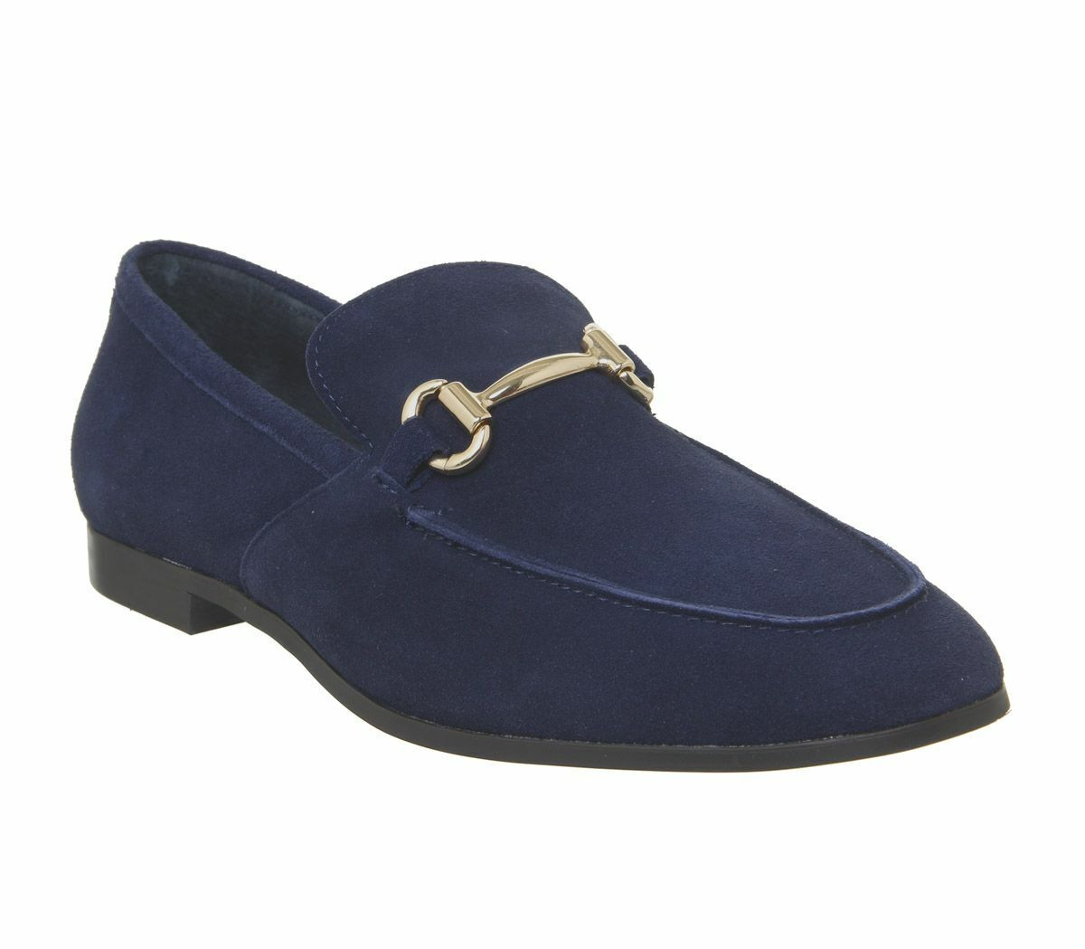 Mens Office Lemming Snaffle Loafers Navy Suede Formal shoes