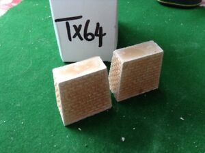2 X Block Style Stone Bridge Support Pillar N Scale, 42mm Tall