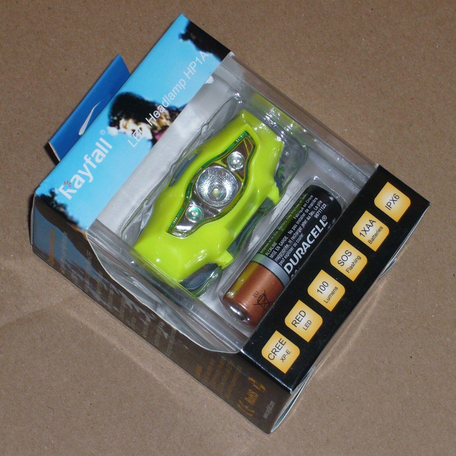 Running Head Torch Hi-Vis - Super-Lightweight (35g) - Super Compact - CREE LED