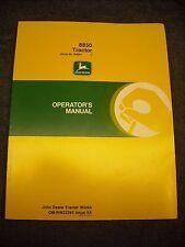 Used John Deere 8850 Tractor Operators Manual Omrw22395 Issue K5