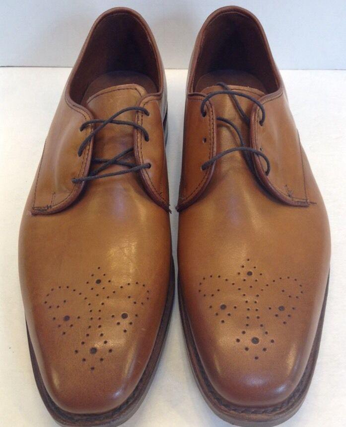 Allen Edmonds Flatiron Derby Oxfords Perforated Walnut Men 8 D  385 New 1153
