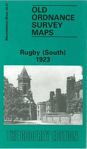 OLD ORDNANCE SURVEY MAP RUGBY SOUTH 1923 HOLY TRINITY CHURCH ROKEBY HOUSE