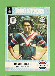 1977-EASTERN-SUBURBS-ROOSTERS-SCANLENS-RUGBY-LEAGUE-CARD-7-DAVID-GRANT
