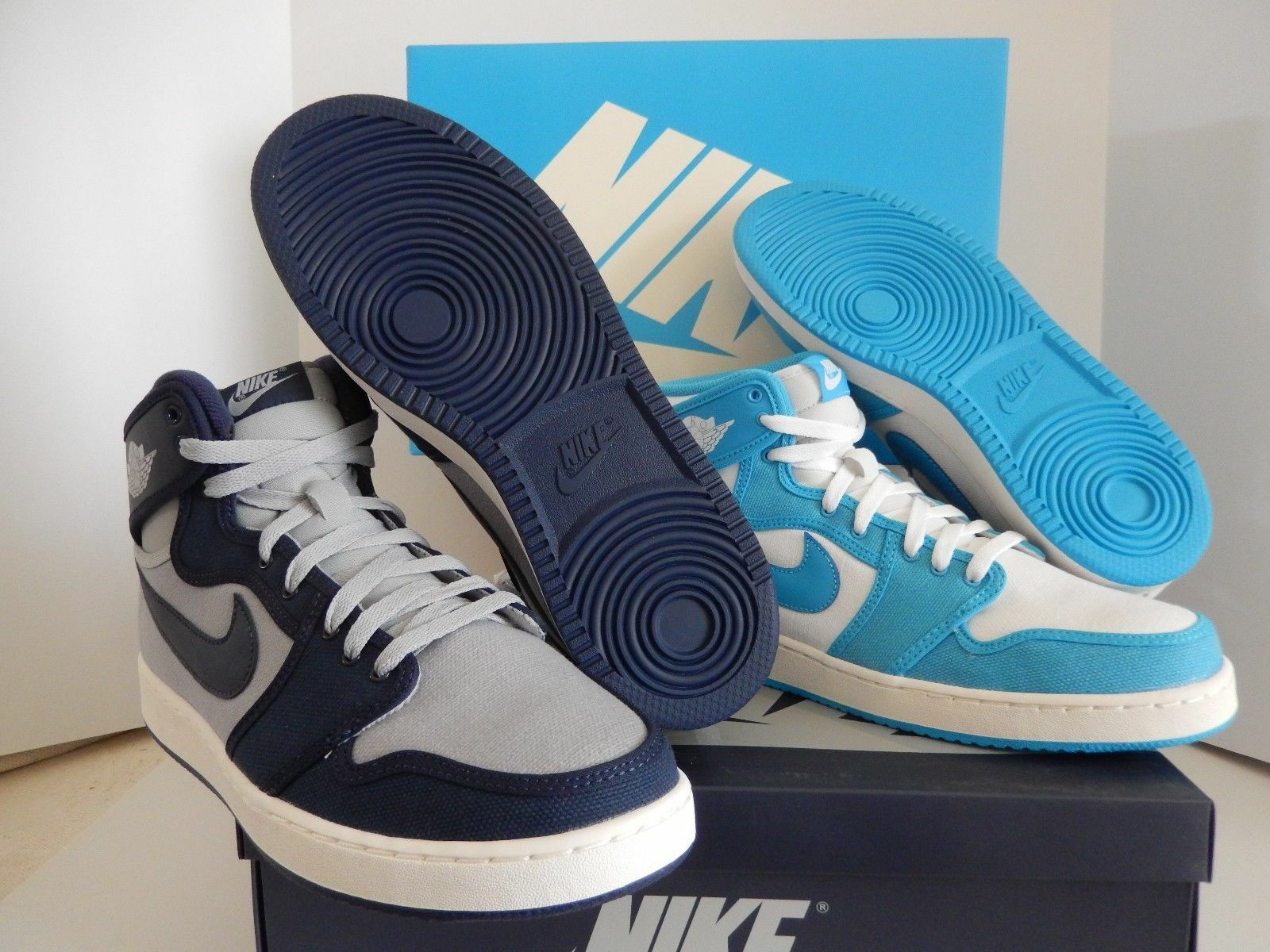 NIKE AIR JORDAN AJ1 KO HIGH OG RIVALRY PACK UNC/GEORGETOWN SZ 9.5 [655328-900]