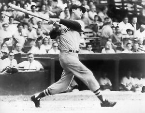 Details About Awesome Ted Williams Red Sox Legend Classic Swing 8x10 Photo