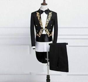 Men-039-s-Tuxedo-Suit-Set-Skinny-Double-Breasted-England-Style-Formal-Party-Clothing