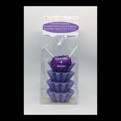 Lavender /& Amber parfumées au soja wax melts//tartes de cire-geriberi bougies parfumées