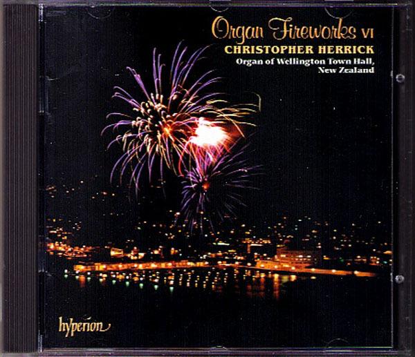 ORGAN FIREWORKS Cocker Elgar Hollins Lemare Spicer Wagner CHRISTOPHER HERRICK CD