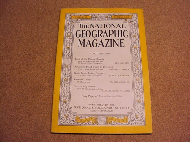 National Geographic October 1946 Painted Oxcarts Palestine Afghanistan Coke Ads