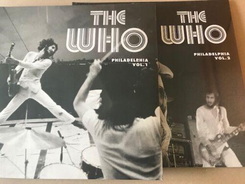 the who PHILADELPHIA VOL.1 & 2 vinyl lp's LTD EDITIONS  mint sealed new