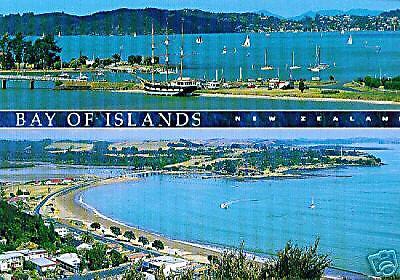 Bay of Islands Neuseeland Paihia Ansichtskarte