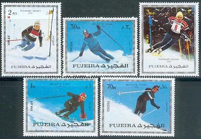 Motive Fujeira 1972 ** Mi.1338/42 A Olympische Spiele Winter Olympic Games