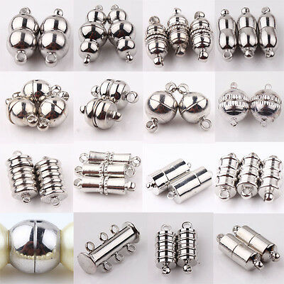 10pc Silver Gold Magnetic Clasp Hook for DIY Bracelet Necklace Jewelry FindingES