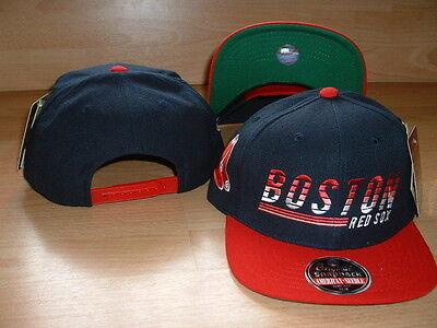 Boston Red Sox Vintage Stil Flach Krempe Snapback Mütze Kappe Attraktiv Und Langlebig Fanartikel