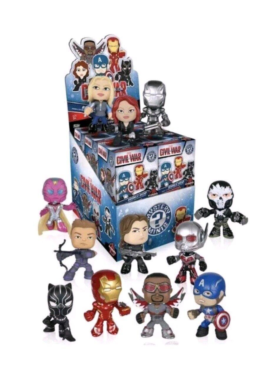 Funko Mystery Minis  Captain America Civil X 12 Blind Mystery Mini new sealed