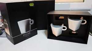 Nespresso 2 x Pure lungo tazas y platillos