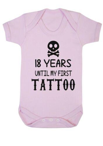 Baby Boy Girl 18 anni fino a quando il mio primo Tatuaggio Canotta Babygrow Body Baby Shower