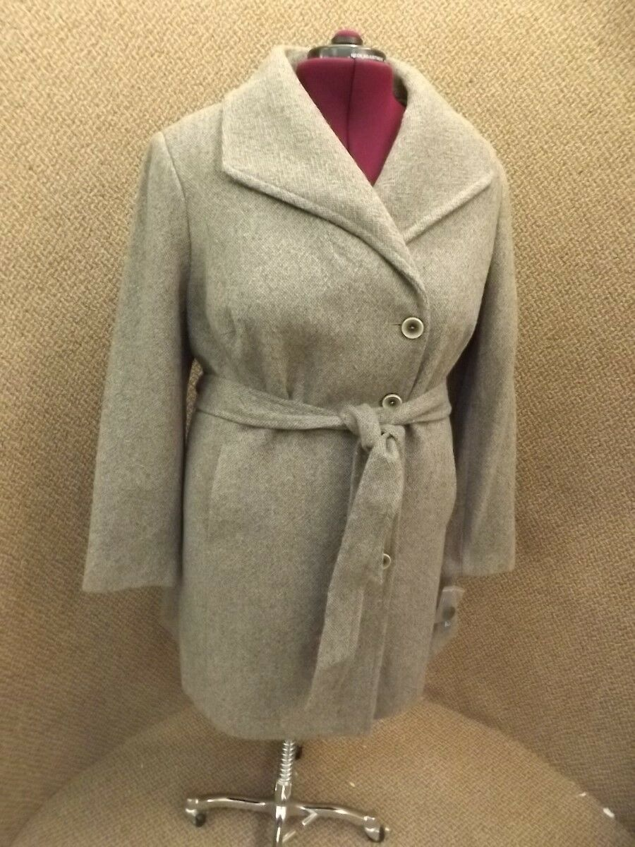 Fit & Flare NEW NWT Wool Tweed Belted A-Line Fall Winter Coat Womens 2X MRP