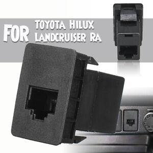 CB UHF Blank Socket RJ45 dio Switch Panel Dash For Toyota Hilux Landcruiser